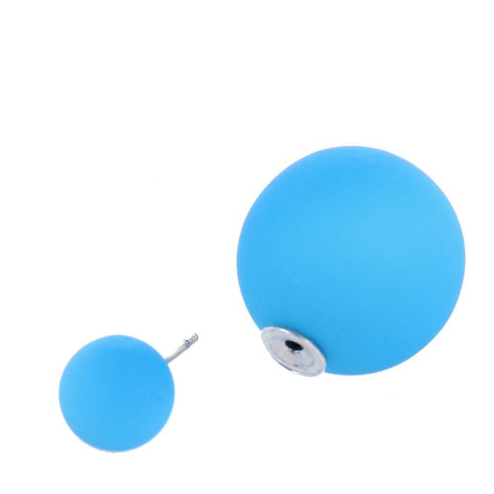 Серьги пусеты Jewels матовые синего цвета