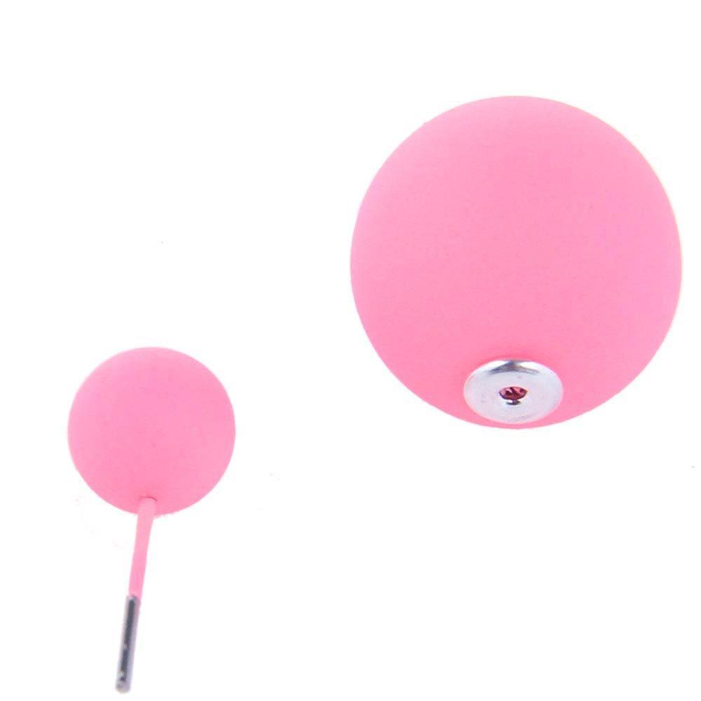 Серьги пусеты Jewels матовые розового цвета
