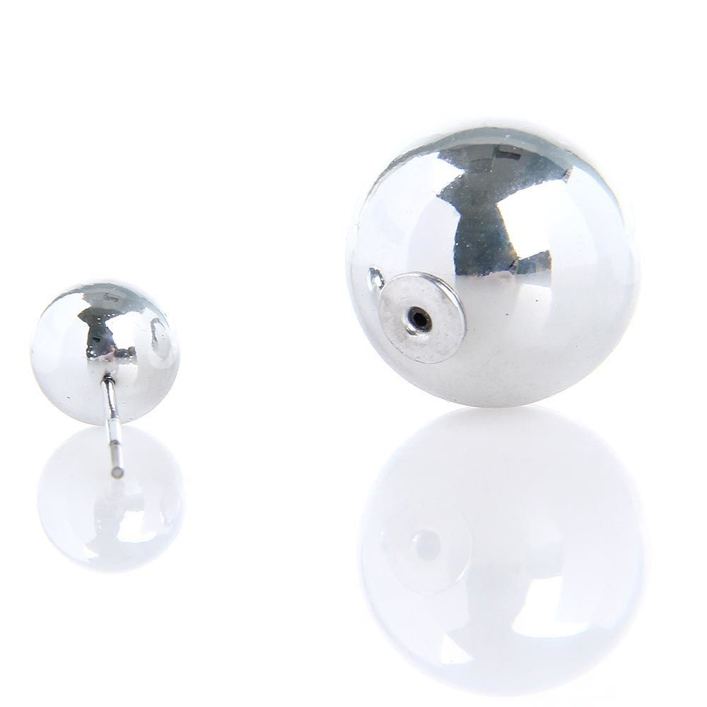 Серьги пусеты Jewels серебристый металлик