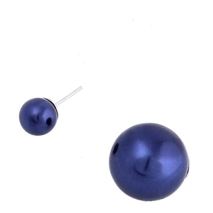 Серьги-гвоздики Jewels пурпурного цвета с перламутром