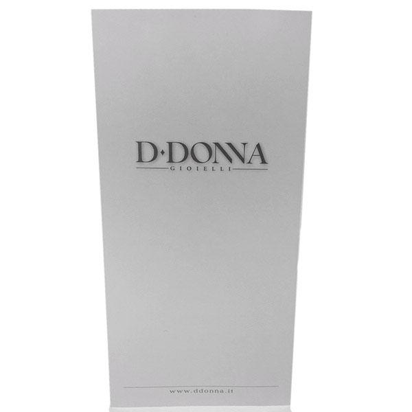 Подвеска D-Donna Ruggero Broggian Amelie из белого золота с черными и белыми бриллиантами
