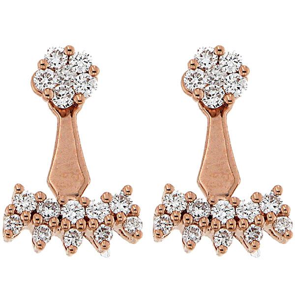 Серьги из розового золота D-Donna Ruggero Broggian Marie с бриллиантами