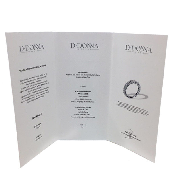 Кольцо D-Donna Ruggero Broggian Cuoro из белого золота с бриллиантами и сапфирами