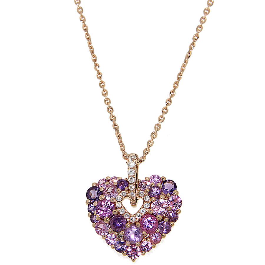 Подвеска в виде сердца D-Donna Ruggero Broggian Aurora из розового золота