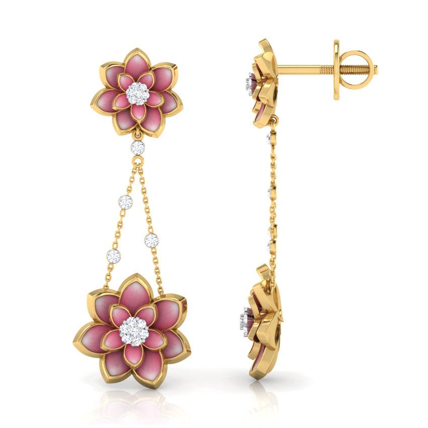 Серьги из желтого золота Perfecto Jewellery с бриллиантами и цветной эмалью je03248-ygp900