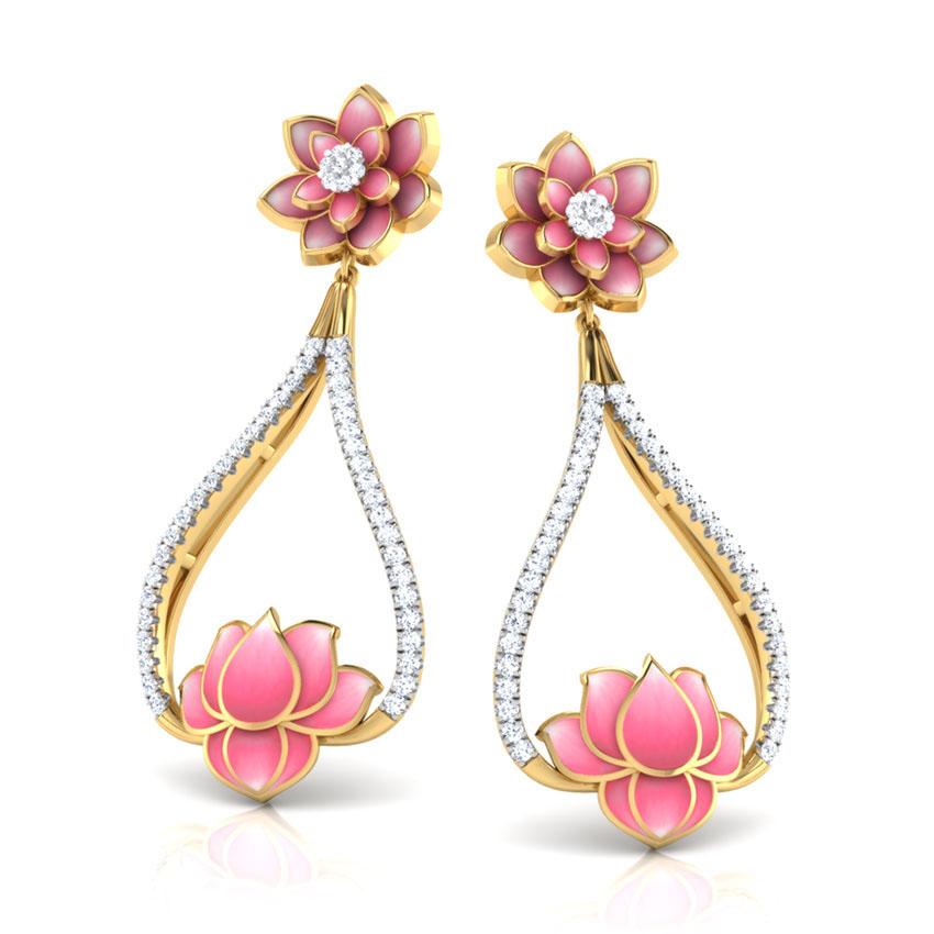 Золотые серьги Perfecto Jewellery с бриллиантами je03252-ygp900