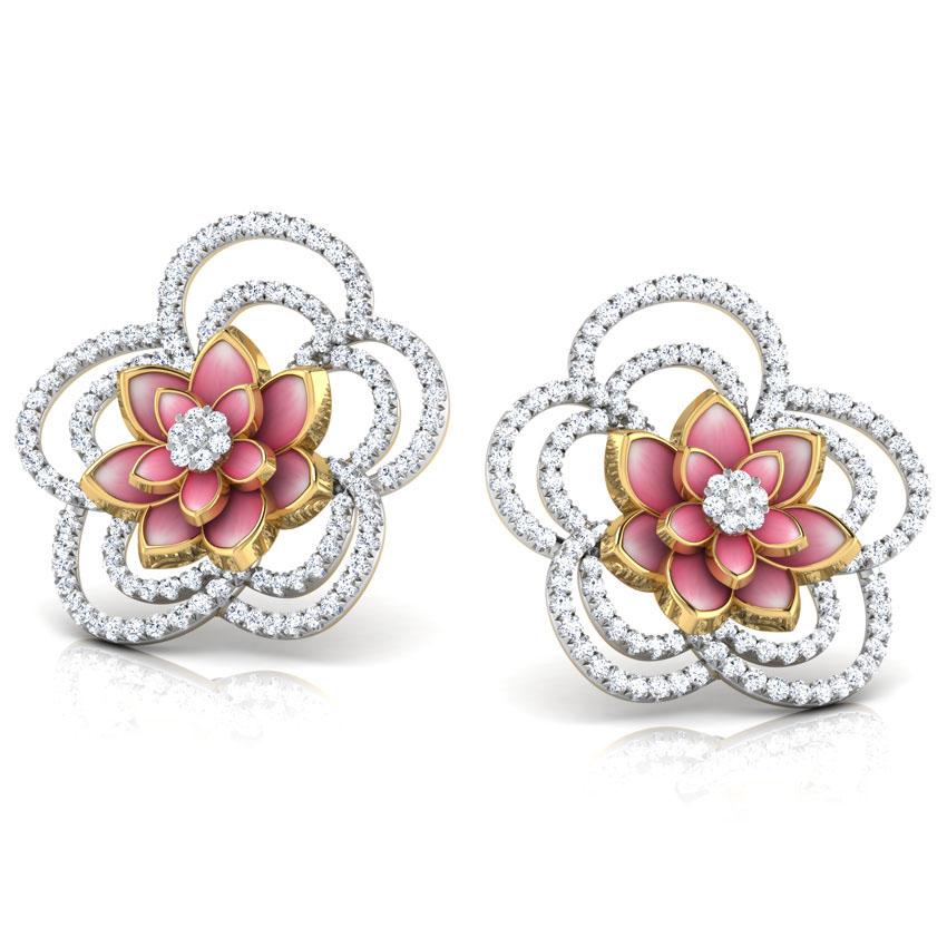 Золотые серьги-пусеты Perfecto Jewellery с бриллиантами je03255-ygp900