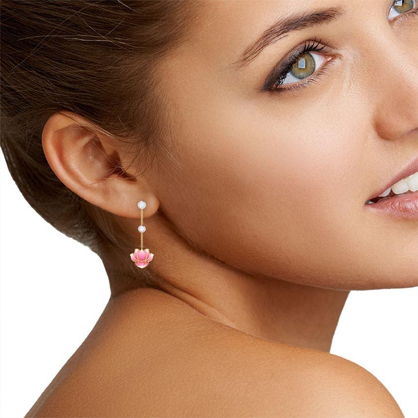 Серьги-подвески Perfecto Jewellery с бриллиантами je03292-ygp900
