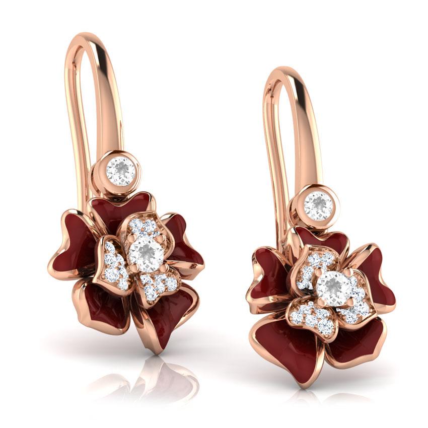 Золотые серьги Perfecto Jewellery с топазами и бриллиантами je03610-rgp9np