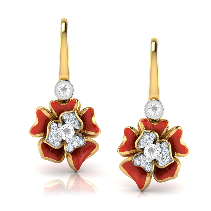 Серьги Perfecto Jewellery с бриллиантами и топазами je03610-ygp9rp