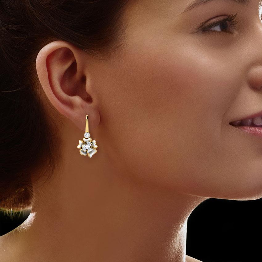 Серьги Perfecto Jewellery с топазами и бриллиантами je03610-ygp9wp