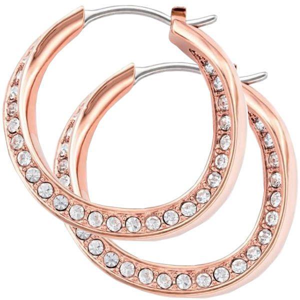 Серьги-кольца FOSSIL стальные позолоченные