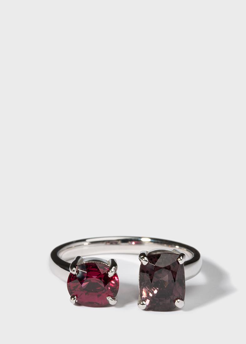 Коктейльное кольцо Gemmis с цветными шпинелями