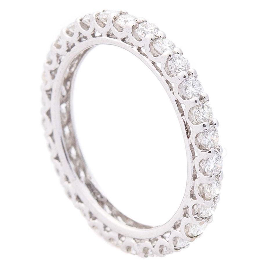 Бриллиантовое кольцо Оникс  из белого золота