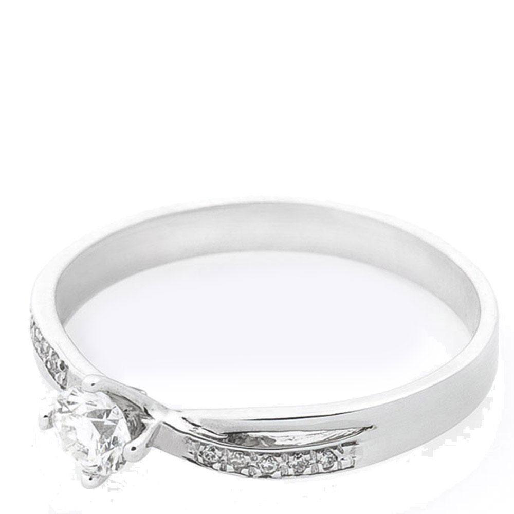 Тонкое кольцо Оникс из белого золота с бриллиантами