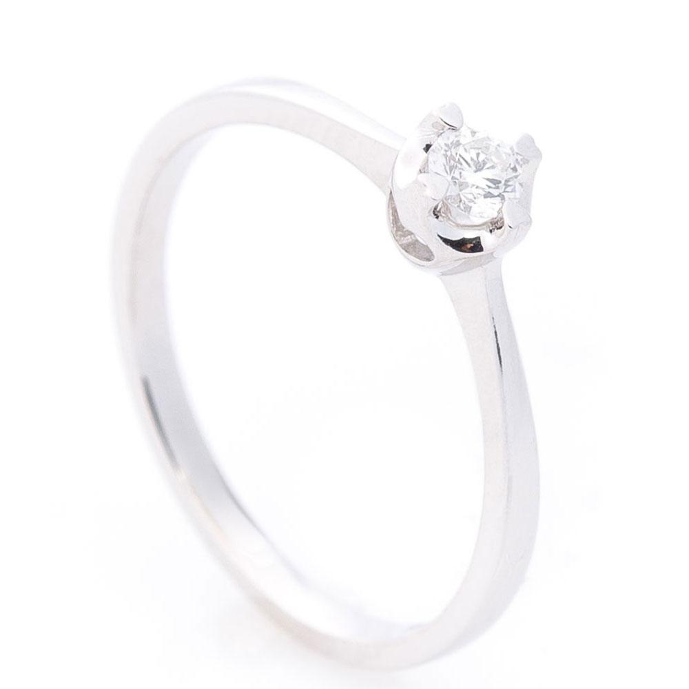 Помолвочное кольцо Оникс с белым бриллиантом