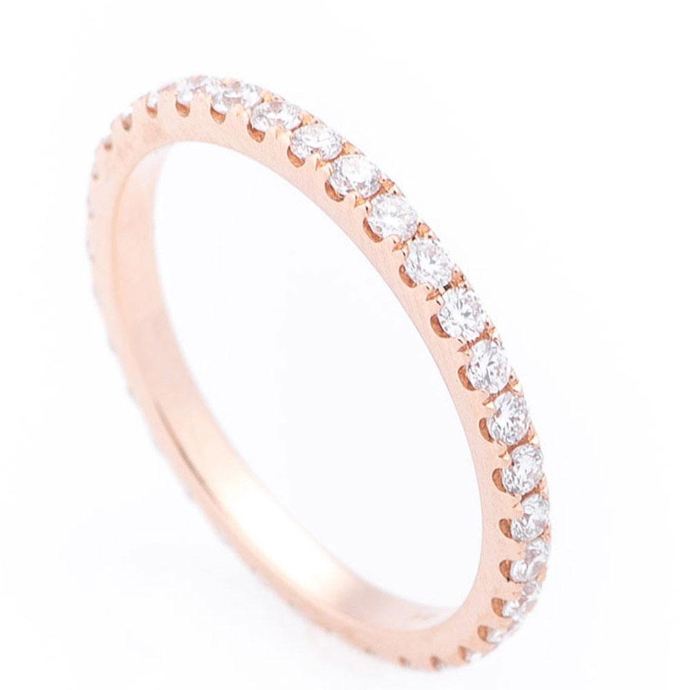 Кольцо тонкое с белыми бриллиантами