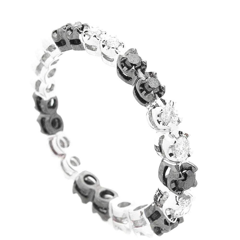 Кольцо Оникс с черно-белыми бриллиантами