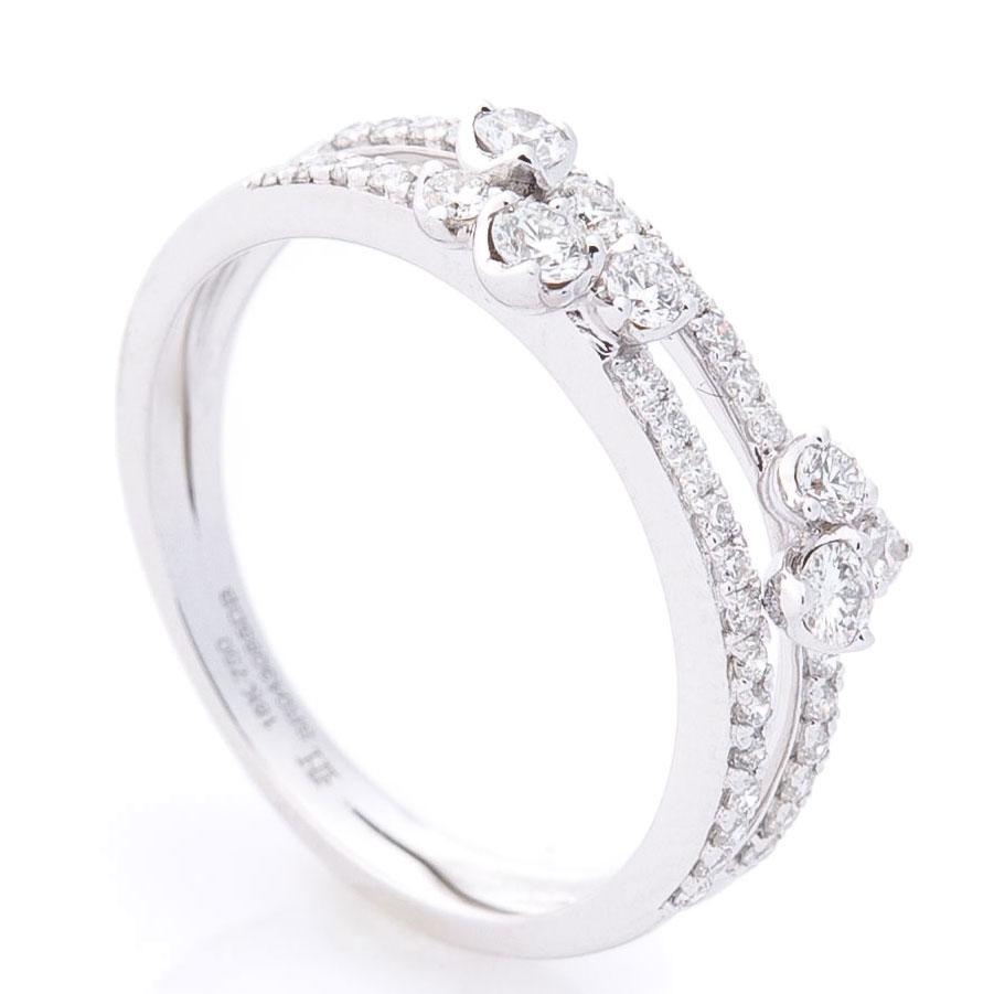 Кольцо из белого золота Оникс с бриллиантами