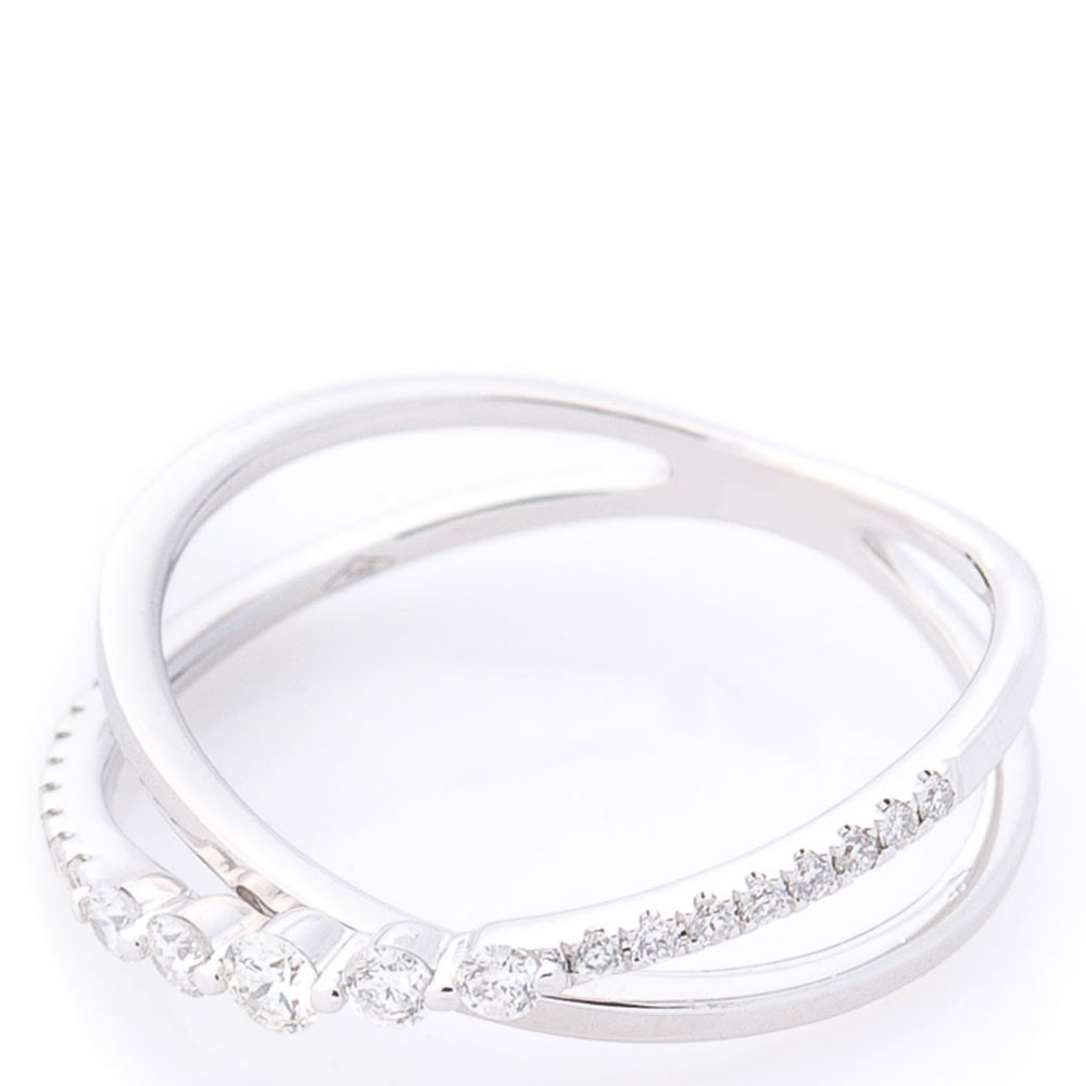 Перекрестное кольцо Оникс с бриллиантами