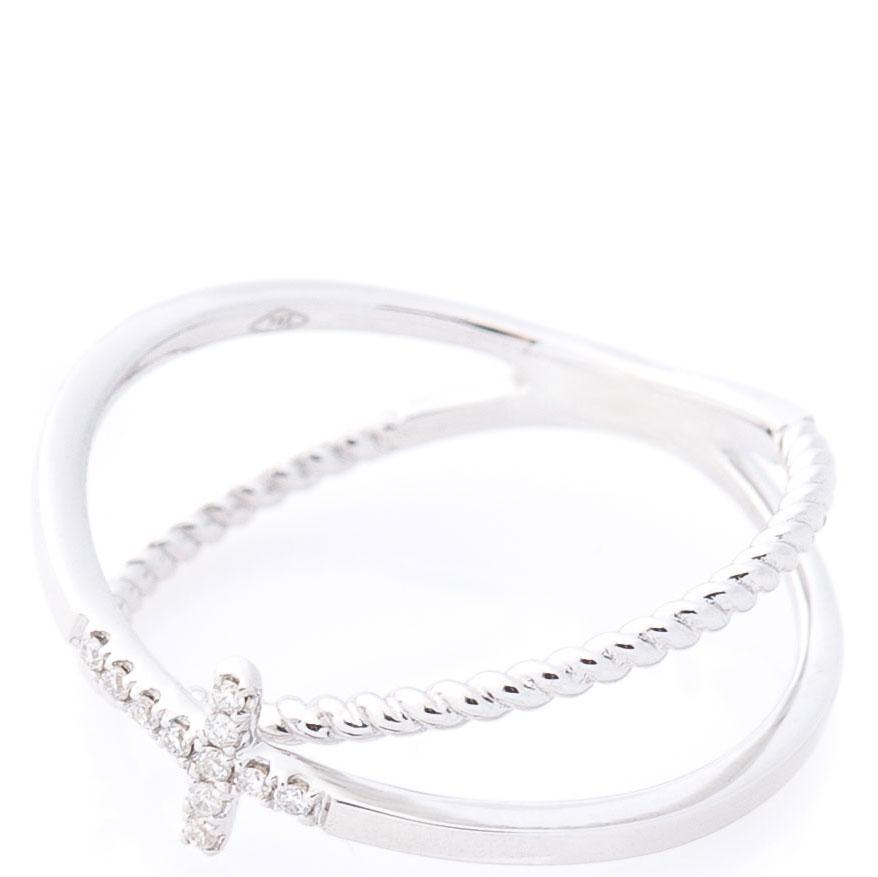 Двойное кольцо Оникс с крестиком