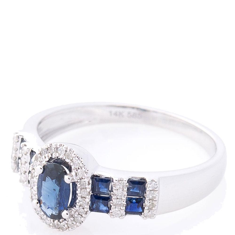 Кольцо золотое с сапфирами и бриллиантами