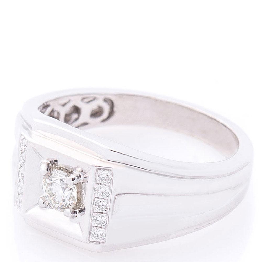 Мужской перстень Оникс с бриллиантами