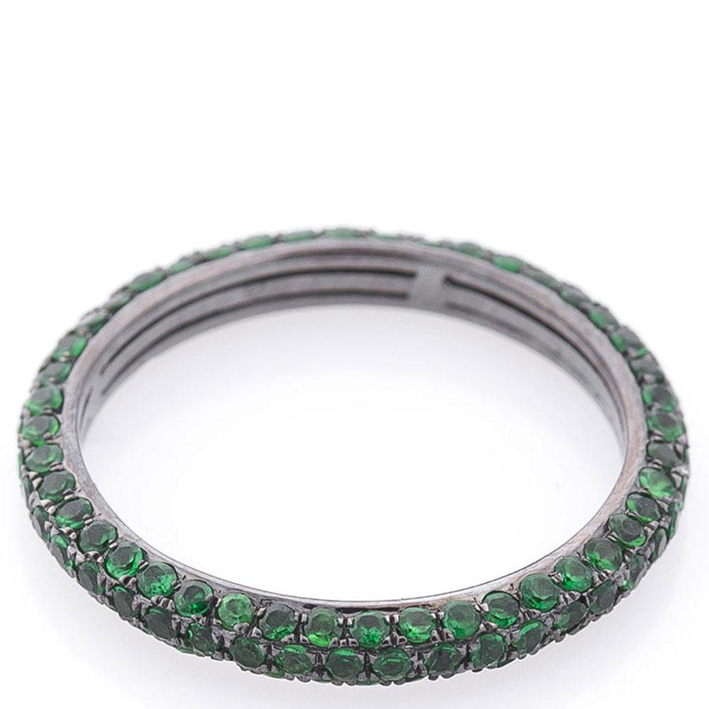 Кольцо с зеленым демантоидом