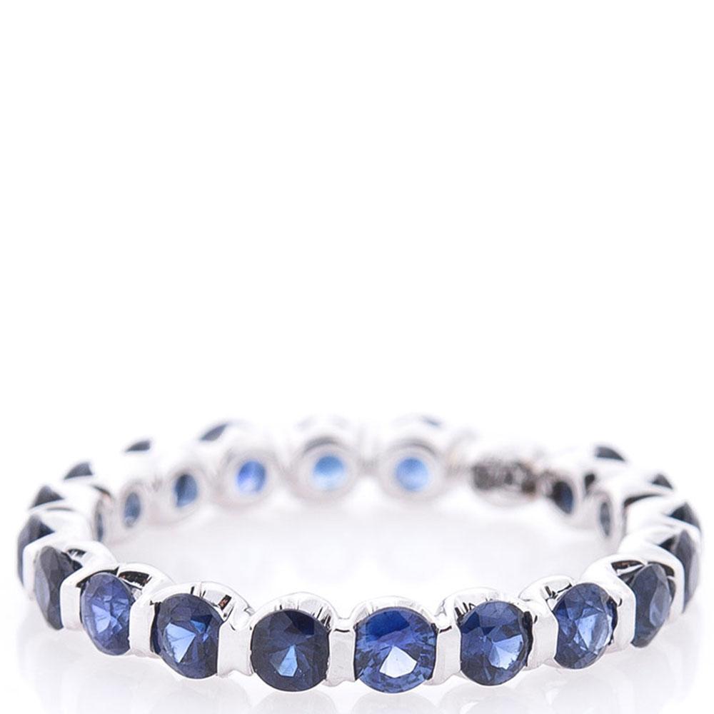 Женское кольцо Оникс с сапфирами