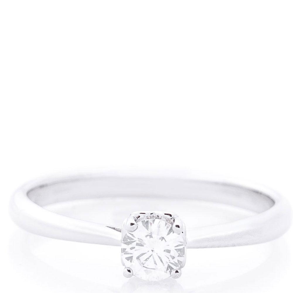 Кольцо из белого золота с бриллиантом белого цвета