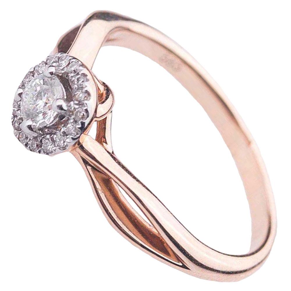 Кольцо из красного золота Оникс с бриллиантами
