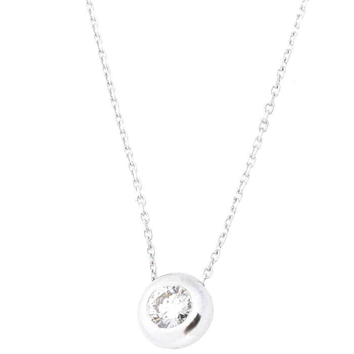 Золотое колье Оникс с бриллиантом
