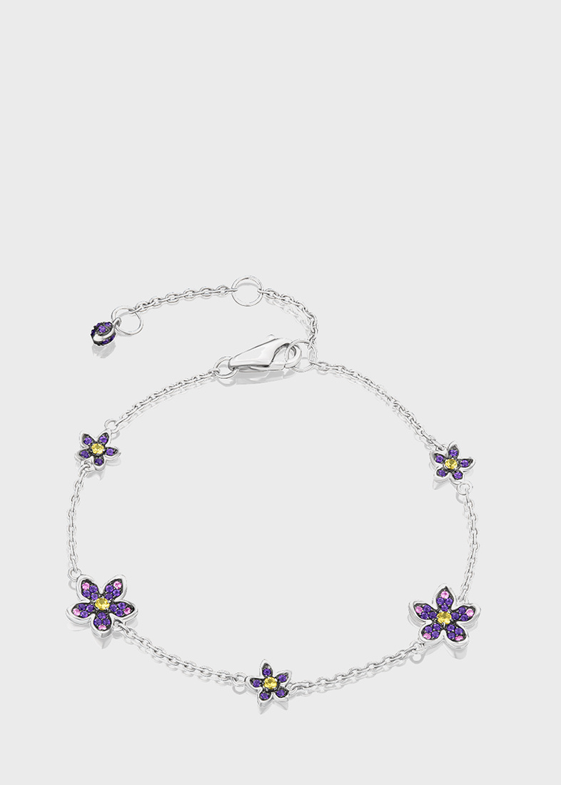 Браслет Art Vivace Jewelry Сирень из белого золота с топазом Violac