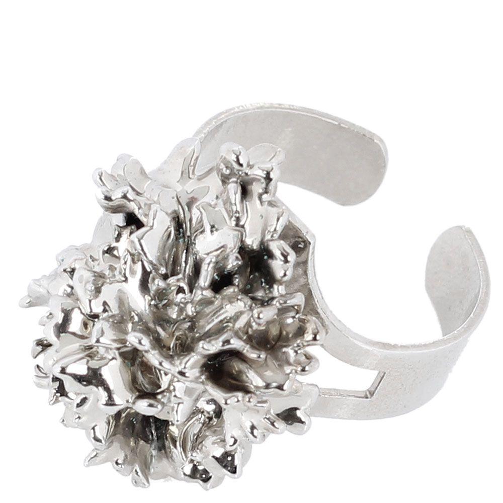 Кольцо Ester Bijoux с листком кучерявой петрушки в серебре