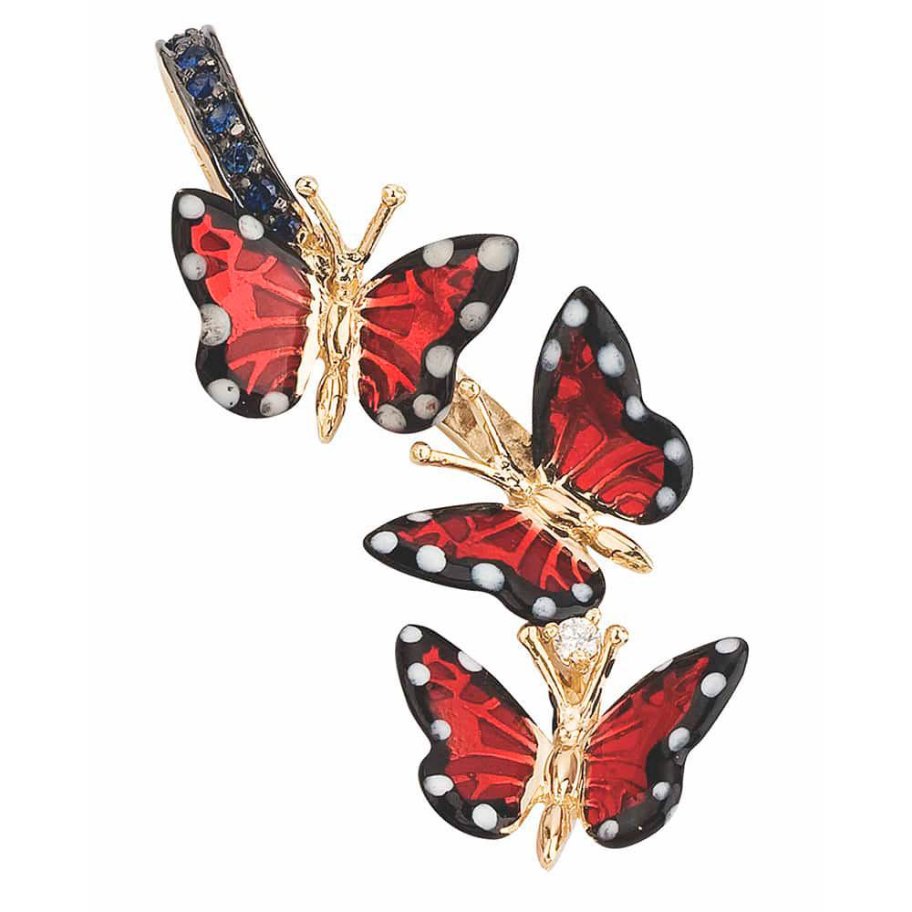 Кулон Roberto Bravo Monarch Butterfly с бабочками