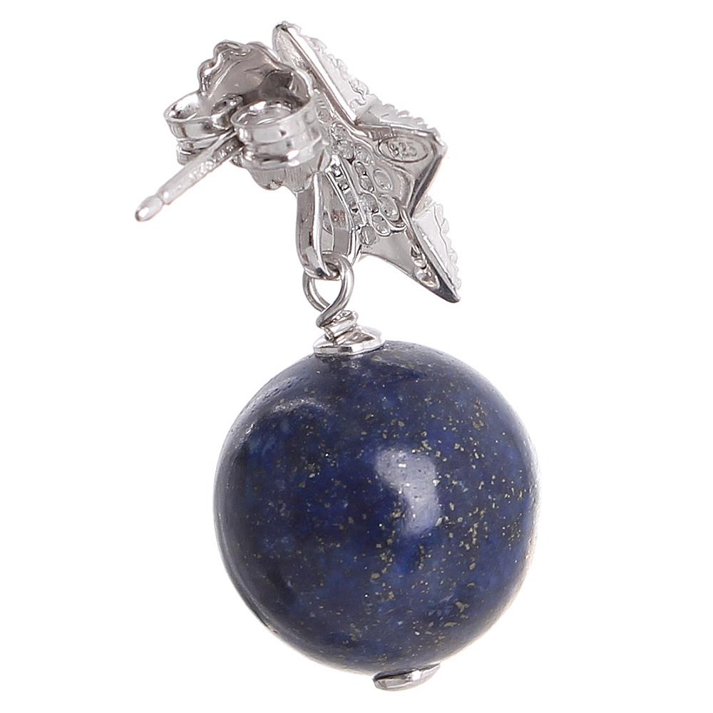 Серьги Misis Noblesse Oblige Nefertiti со звездами и синими лазуритами