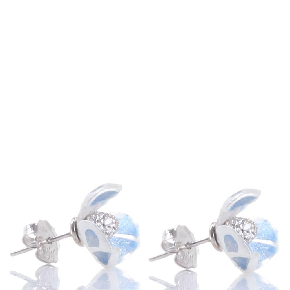 Серьги-гвоздики Misis Gemina в форме цветка ириса голубого цвета