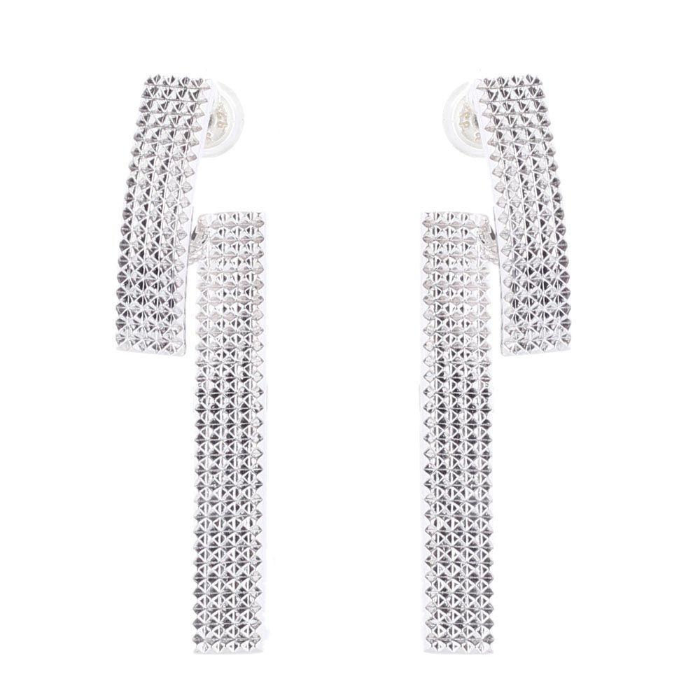 Серебряные серьги Elisabeth Landeloos прямоугольной формы