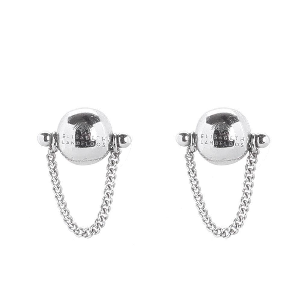 Серебряные серьги-пусеты Elisabeth Landeloos в форме шариков