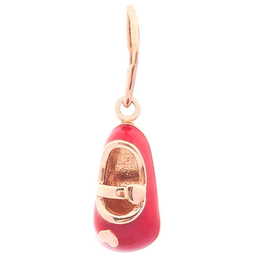 Золотая подвеска Туфелька с эмалью