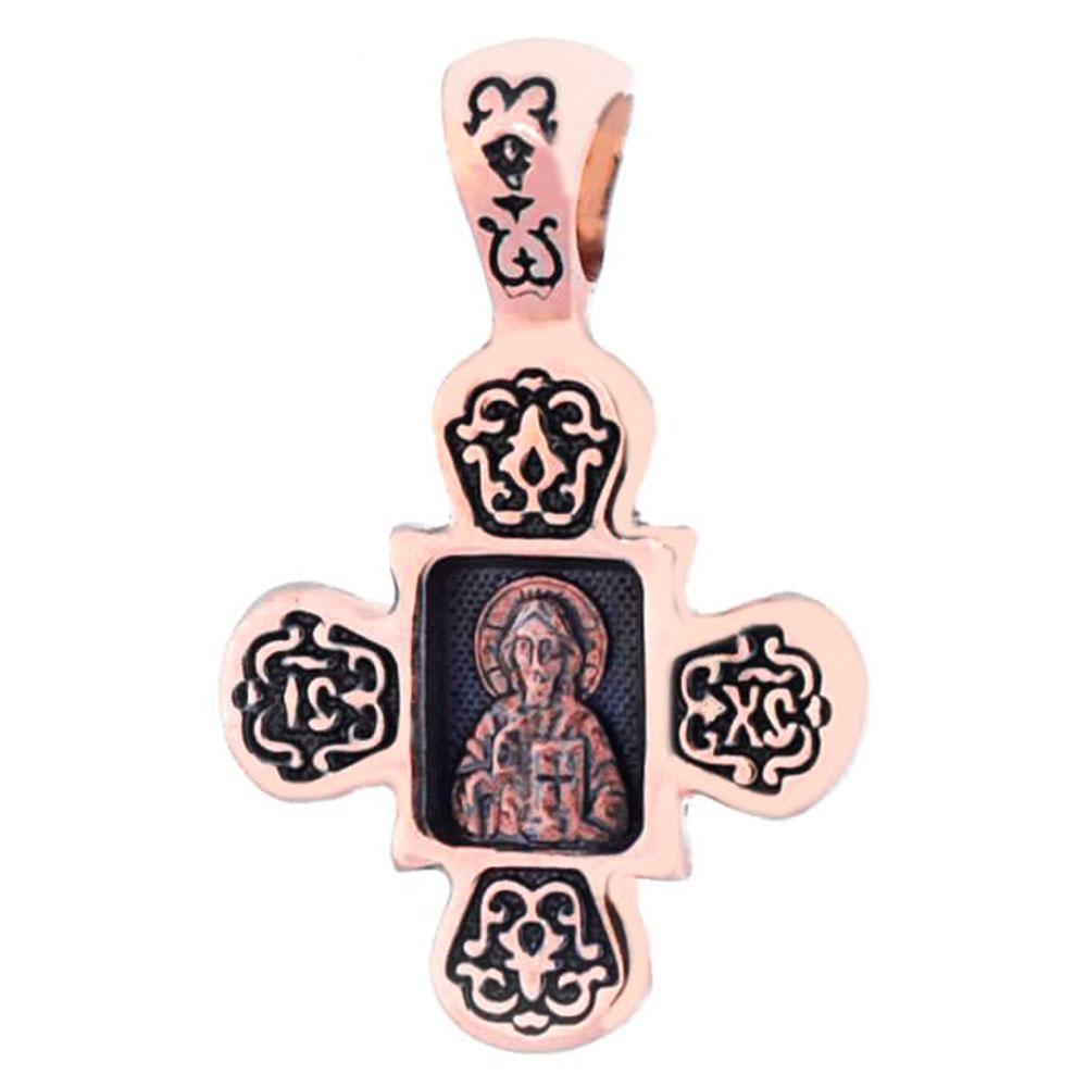 Симметричный крест из красного золота