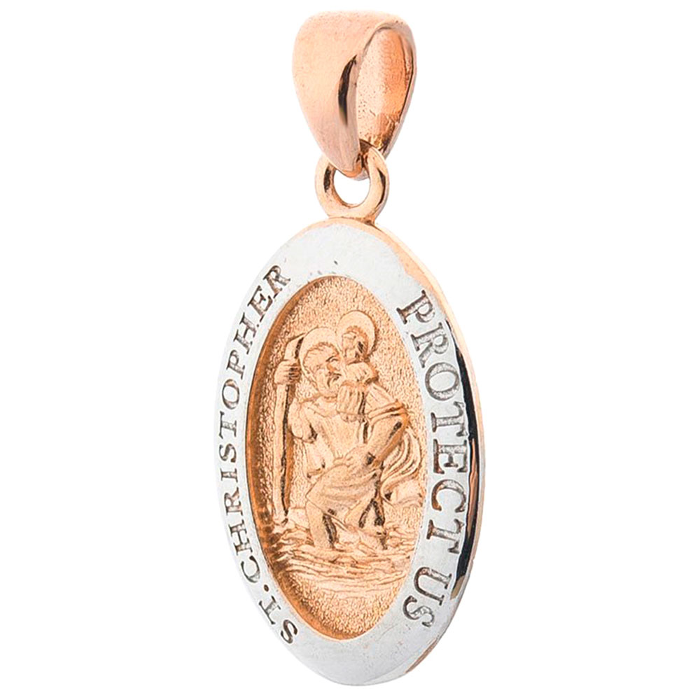 Католическая ладанка из красного золота