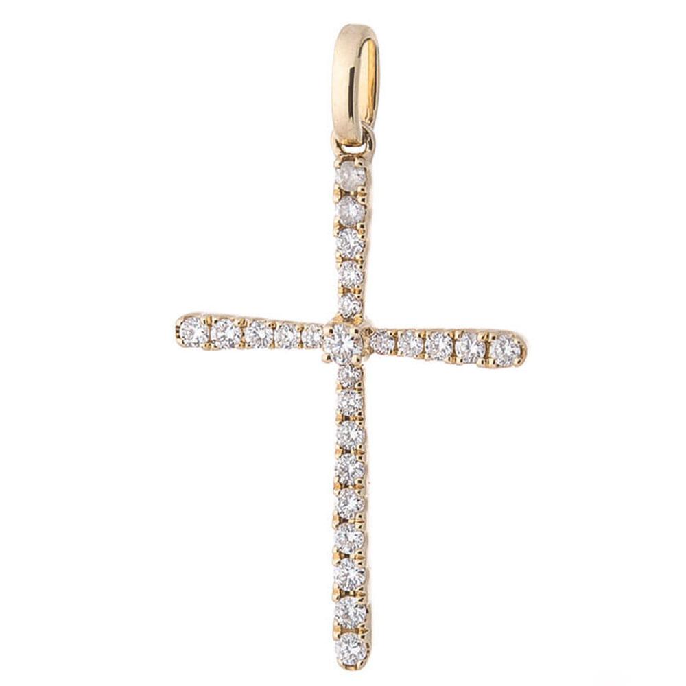 Золотая подвеска Оникс с бриллиантами
