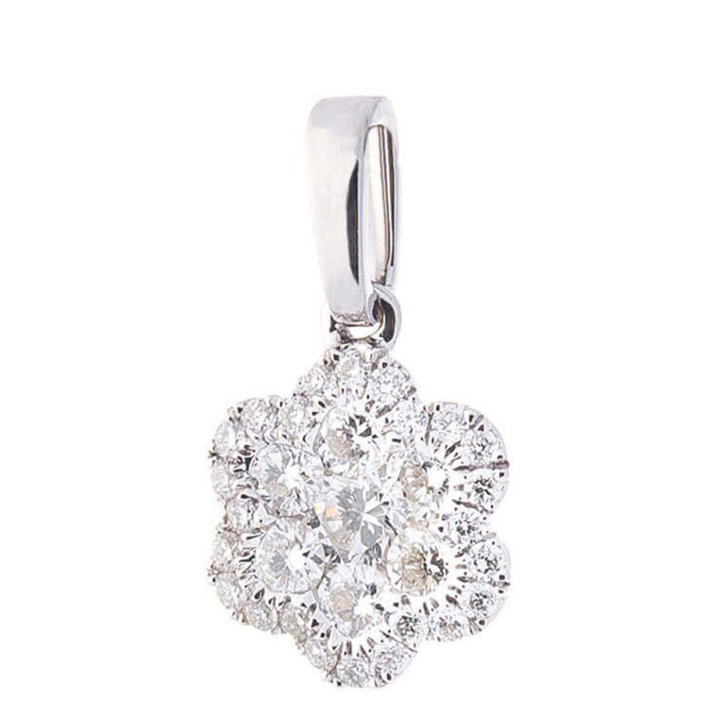 Подвеска-цветок с бриллиантами