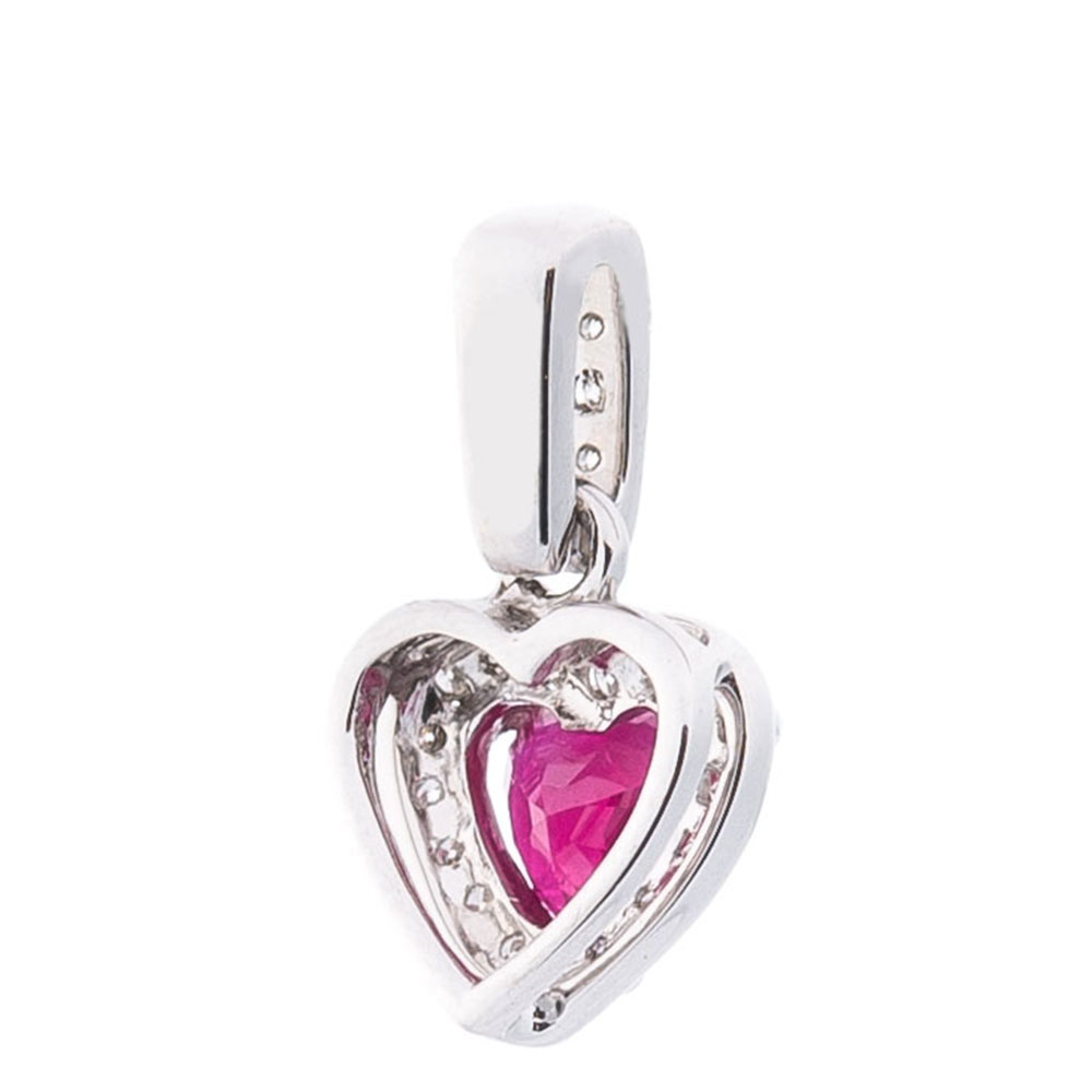 Кулон-сердце Оникс с рубином и бриллиантами