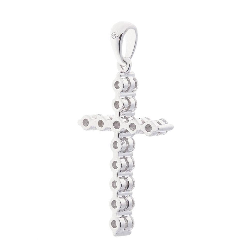 Подвеска с бриллиантами Оникс в форме крестика