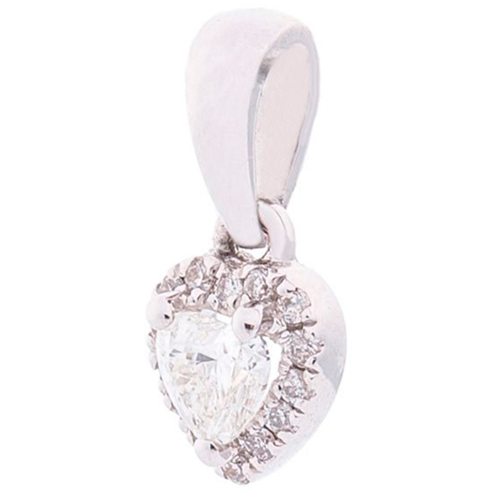 Подвеска-сердце с бриллиантами