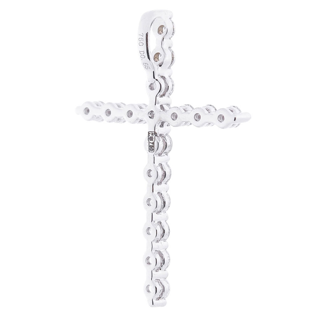 Крестик Оникс золотой с бриллиантами