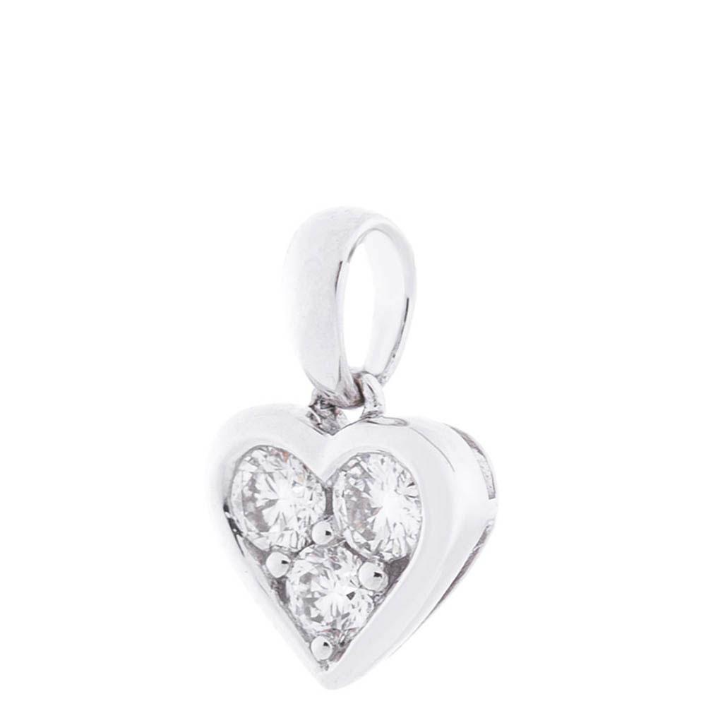 Подвеска-сердце Оникс из белого золота