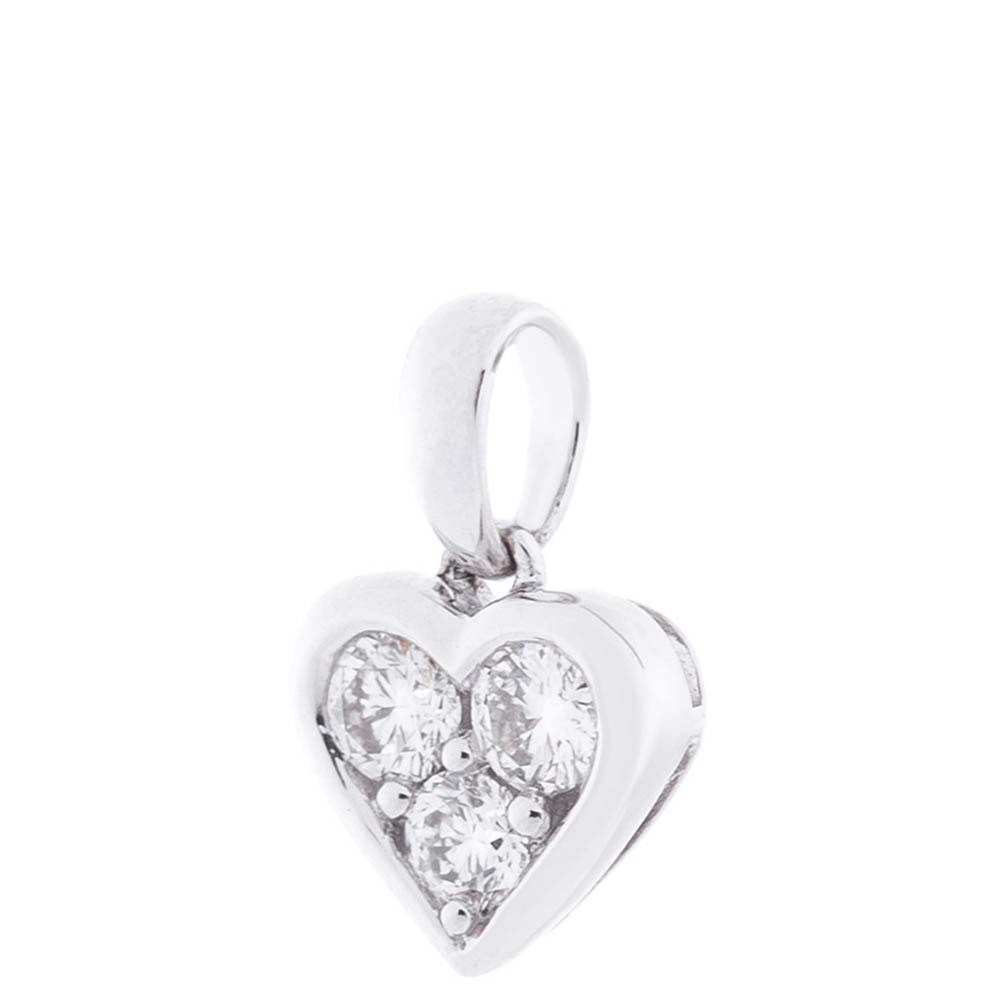 Подвеска-сердце из белого золота